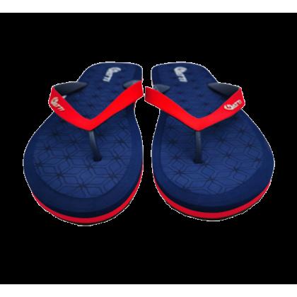 Gatti Men Latex Sim Foam Slipper Flip Flop MAXWELL 191149-62 Blue Red
