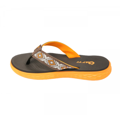 Gatti Women Latex Sim Mat Slipper Flip Flop REZA Dark Brown 201261-27