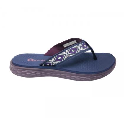 Gatti Women Latex Sim Mat Slipper Flip Flop REZA Nav Purple 201261-26