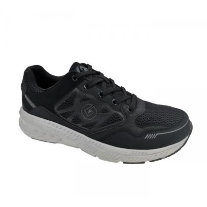 GATTI ATRICE Latex Insole Men Big Size Running Shoe Black 205113-01