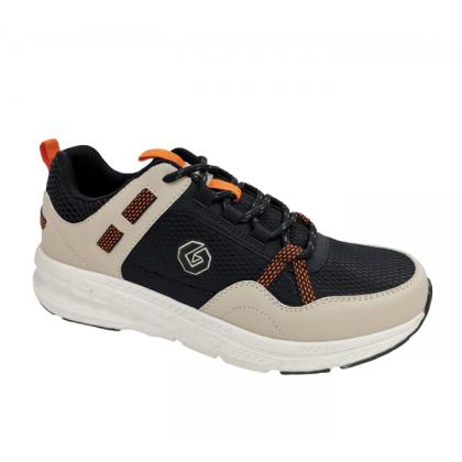 GATTI COSIM Latex Insole Men Big Size Running Shoe Light Brown Black 208106-27