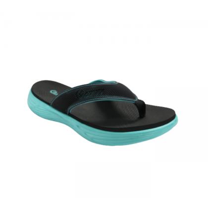 Gatti Men's Latex Sim Mat Slipper HASSE Black Turquoise 201197-52
