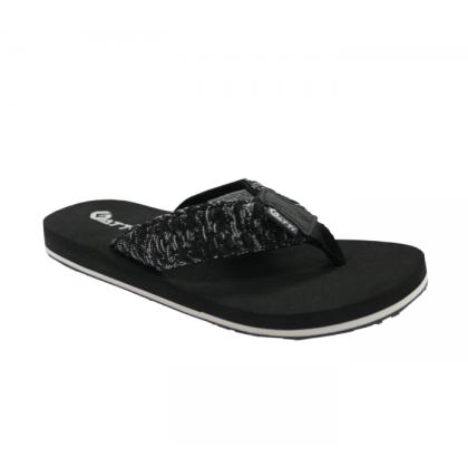 Gatti Men Latex Sim Mat Slipper Flip Flop SARELL Black 201168-01