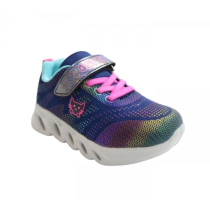Gatti Junior Kids Walking Shoe with Flashing Light MIZULIA Blue 208323-02