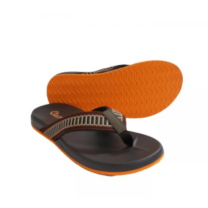 Gatti Men's PU Slipper SERATIN Dark Brown Orange 201173-27