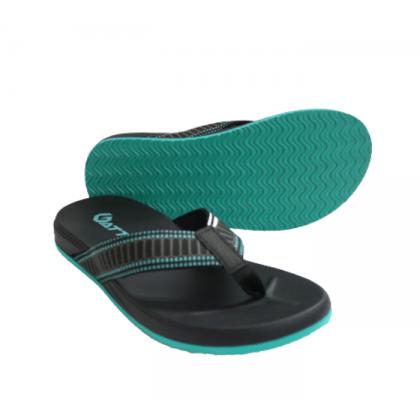 Gatti Men's PU Slipper SERATIN Black Turquoise 201173-01