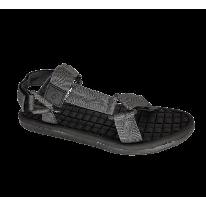 Gatti Men's Sandal with Adhesive Strap VERTICA Black Dark Grey 192146-21