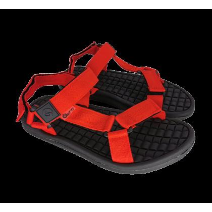 Gatti Men's Sandal with Adhesive Strap VERTICA Black Red 192146-05