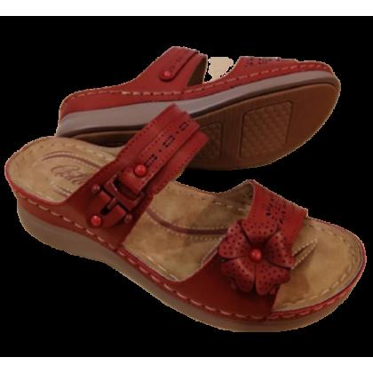 Gatti Women Sandal TANIA PU Leather Sandal Wedge Heel Red 2182M02-05